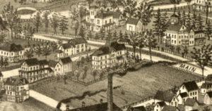 1886 Burleigh Map of Amherst
